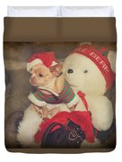Christmas Zoe Duvet Cover by Laurie Search