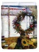 Christmastime Folk Art Fantasia Duvet Cover