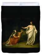 Christs Appearance To Mary Magdalene After The Resurrection Duvet Cover