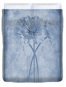 Chrysanthemum Cyanotype Duvet Cover