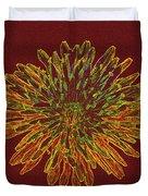 Chrysanthemum Fire Duvet Cover