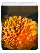 Chrysanthemum Gently Floating In The Fountain Of Campo De Fiori - Rome - Italy Duvet Cover