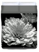 Chrysanthemum In Light And Shadow Duvet Cover