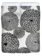 Chrysanthemums Duvet Cover by Japanese School
