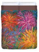 Chrysanthemums Like Fireworks Duvet Cover