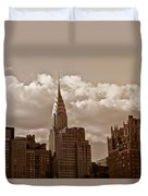 Chrysler Building And The New York City Skyline Duvet Cover