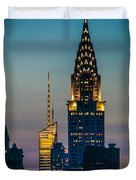 Chrysler Building At Sunset Duvet Cover