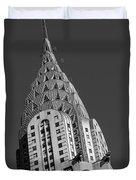 Chrysler Building Bw Duvet Cover
