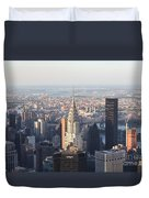 Chrysler Building From The Empire State Building Duvet Cover