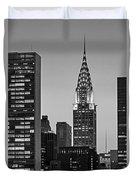 Chrysler Building New York City Bw Duvet Cover