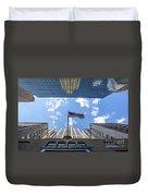 Chrysler Building Reflections Horizontal Duvet Cover