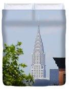 Chrysler Building View Duvet Cover