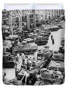 Chrysler Tank Plant Duvet Cover