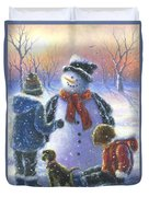 Chubby Snowman  Duvet Cover