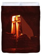 Chapel At Night Duvet Cover