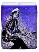Chuck Berry Rocks Abstract Duvet Cover