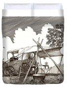 Chuckwagon Cattle Drive Breakfast Duvet Cover