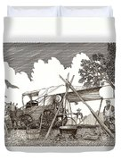 Chuckwagon Cattle Drive Breakfast Duvet Cover