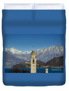 Church And Alps Duvet Cover