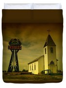 Church And Casino Those Two Angels  Duvet Cover