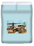 Church And River Duvet Cover