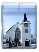 Paramus Nj - Church And Steeplechurch And Steeple Duvet Cover