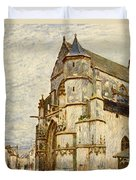 Church At Moret After The Rain Duvet Cover
