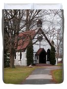Church At The Lake Duvet Cover