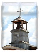 Church Bell Tower In Truchas In New Mexico Duvet Cover
