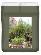 Church Courtyard Duvet Cover