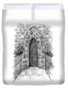 English Church Door Duvet Cover