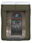Church Doors And Flowers Duvet Cover