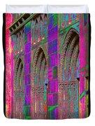 Church Doors Pop Art Duvet Cover