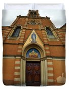 Church Entrance. Palazzolo Duvet Cover