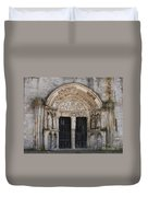 Church Entrance - St  Thibault Duvet Cover