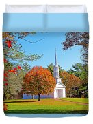 Church In Autumn Duvet Cover