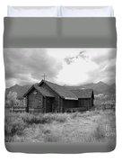 Church In Black And White Duvet Cover