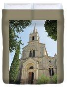 Church In Gordes Duvet Cover