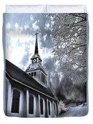 Church In Kuusamo Finland Duvet Cover