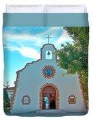 Church In San Carlos-sonora Duvet Cover