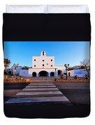 Church In Sant Josep Town On Ibiza Island Duvet Cover