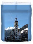 Church In The Austrian Alps Duvet Cover