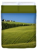 Church In The Field Duvet Cover by Brian Jannsen