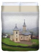 Church In The Mist Duvet Cover by Jeff Kolker