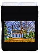 Church In The Wildwood - Paint Duvet Cover