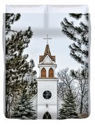 Church In The Woods Duvet Cover