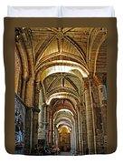 Church Interior Dordogne Region France Duvet Cover