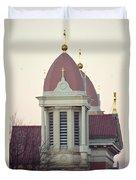 Church Of Gold Crosses Duvet Cover