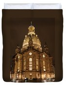 Church Of Our Lady At Night  -  Dresden - Germany Duvet Cover