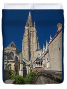 Church Of Our Lady In Bruges Duvet Cover